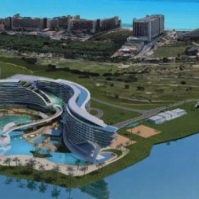 Alistan primera piedra del megaproyecto Grand Island Cancún, que se redujo a un World Trade Center y mil habitaciones