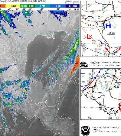 Pronóstico del clima: Prevén tiempo agradable para Quintana Roo por influencia de frente frío y una vaguada
