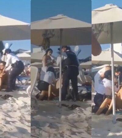 ¿POLICÍAS, AL SERVICIO DE EMPRESARIOS?: Abren proceso administrativo contra agentes municipales que expulsaron por la fuerza a bañistas de playa Mamita's por no consumir alimentos del lugar