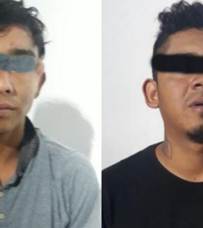 Detienen a dos sujetos armados que asaltaron a taxista en la región 227 de Cancún