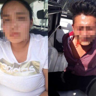 Detienen a dos personas en Bonfil, acusadas de ocultar a sicarios