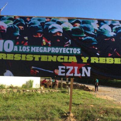 Retienen a zapatistas durante 24 horas por colocar letreros contra megaproyectos del Gobierno Federal