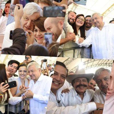 GALERÍA | ¡EL QUE SE MUEVA NO SALE CON AMLO!: Diputados, senadores y alcaldesas se desviven por una foto con el Presidente y hasta las presumen en redes