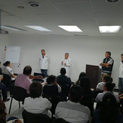 Capacitan sobre prevención de COVID-19 a personal del Sector Salud de Cancún