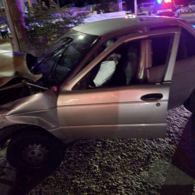 Investigan a agentes ministeriales por robo en auto siniestrado esta madrugada en Cancún