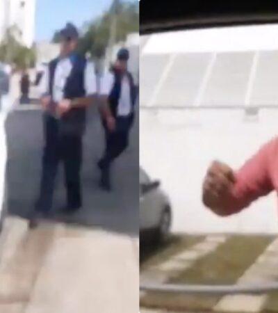OTRO ATENTADO MÁS CONTRA CONDUCTOR DE UBER: Inspectores del Instituto de Movilidad golpean vehículo y agreden al chofer