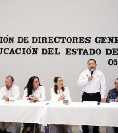 Llevan a cabo la Reunión de Directores Generales de Educación del Estado en Puerto Morelos