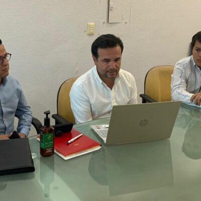 Alcalde y comerciantes de la Canaco acuerdan apoyar programas alimentarios en Cozumel por coronavirus