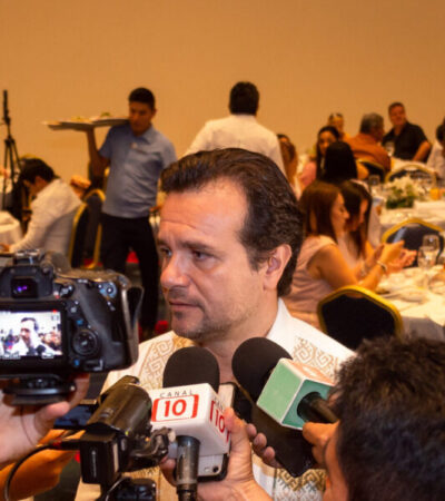 Asegura Pedro Joaquín que no hay alarma para los cruceros en Cozumel, ya que EU sólo emitió recomendación para personas de la tercera edad