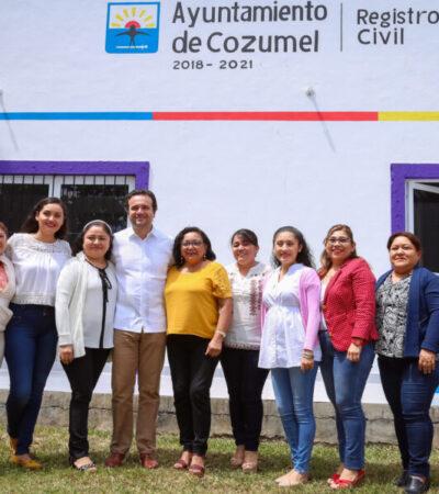 Modernizan las instalaciones del Registro Civil de Cozumel