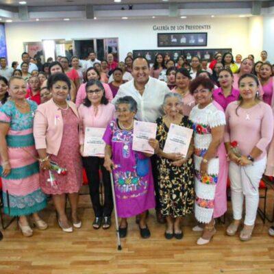 Entregan reconocimientos a mujeres destacadas que día tras día luchan por una mejor sociedad en Isla Mujeres