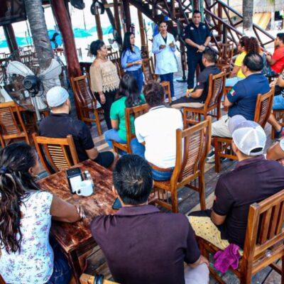 Acuerdan autoridades de Isla Mujeres y concesionarios de playas tomar medidas pertinentes según evolución del Coronavirus en QR