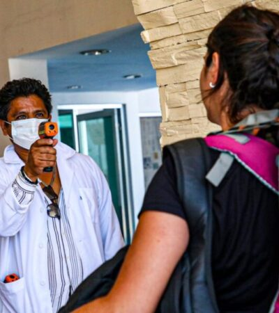 Se unen dependencias municipales al filtro médico en muelles de entrada y salida de Isla Mujeres