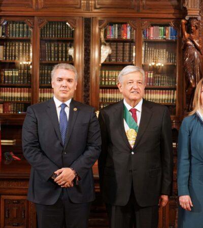 Anuncian México y Colombia que fortalecerán estrategia para combatir al narco, tras reunión AMLO-Duque