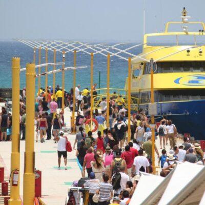 Anuncia Ultramar suspensión de cuatro corridas en la ruta Playa del Carmen-Cozumel por alerta sanitaria