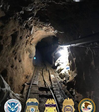 Descubren narcotúnel entre Tijuana y San Diego e incautan 2 toneladas de 5 drogas diferentes