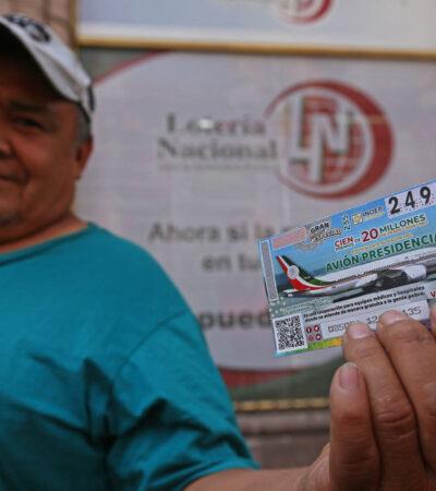 FOTOS | Arranca la venta de billetes de lotería para la rifa del avión presidencial
