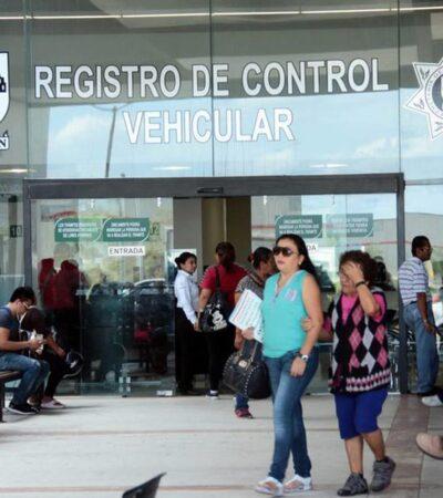 Ni el coronavirus detiene el reemplacamiento en Yucatán