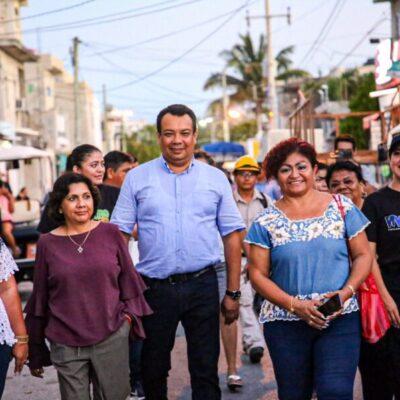 """Realizan la primera """"Marcha Exploratoria Colonia Segura"""" en diversos puntos de Isla Mujeres"""