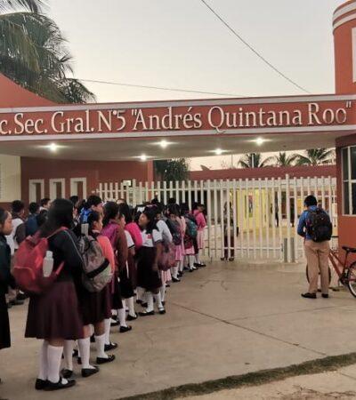 BUSCAN ATAJAR AL VIRUS EN LAS AULAS: Escuelas públicas cumplen con activar sus filtros de salud en Quintana Roo