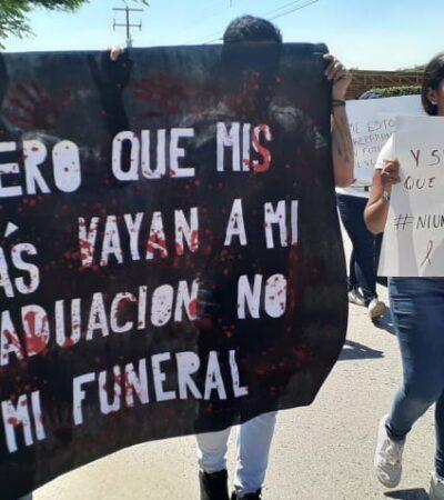 Marchan estudiantes de la UPCH tras nulo avance en investigación por asesinato de un universitario