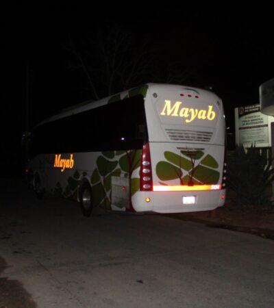 Atracan a pasajeros de autobús en la carretera Mérida-Campeche; se dirigían a El Ceibo, Guatemala a realizar compras