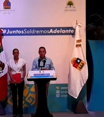 TIENEN FONDO INICIAL DE 10 MDP PARA APOYO ALIMENTARIO: Confirma Gobernador que en abril empezará programa especial para enfrentar contingencia económica por coronavirus en QR