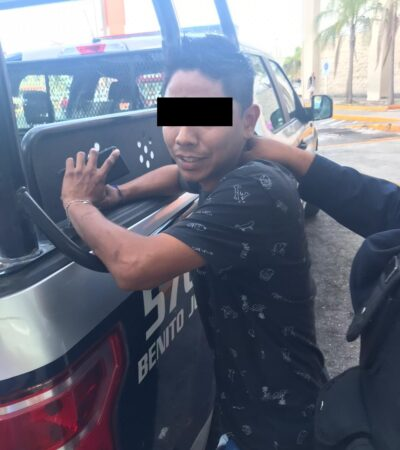 Cancunense se enfrenta con ladrones del coche de su padre