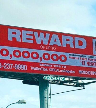 Ofrece EU 10 millones de dólares por Nemesio Oseguera 'El Mencho'; es el fugitivo más buscado por la DEA