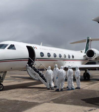 Yucateca cuyo esposo falleció en Perú por COVID-19 es repatriada en avión de la FAM