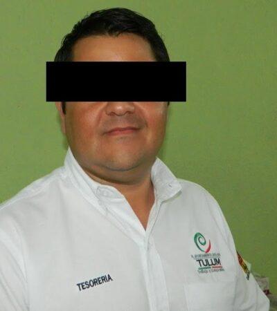 EMBARGAN 12 PROPIEDADES Y RETIRAN BRAZALETE ELECTRÓNICO A PRIMO DE FÉLIX: Ex tesorero de Tulum, Oscar Conde, continuará en libertad su proceso, pero deberá firmar por 24 meses ante instancias judiciales