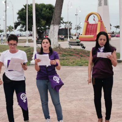 'CADENA FEMINISTA' EN CHETUMAL: Acusan que el Estado incumple con proteger a las mujeres y garantizarles su derecho a vivir libres de violencia