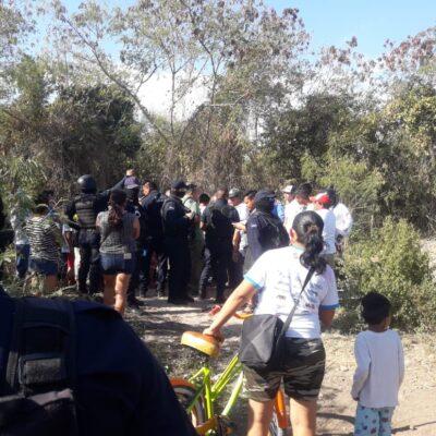Desalojan policías intento de invasión en Akumal