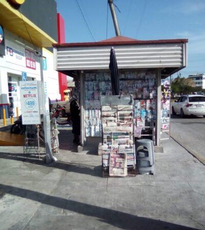 Aprovechan ambulantes a exhibir y vender material pornográfico en Cancún, ante fata de vigilancia de autoridades