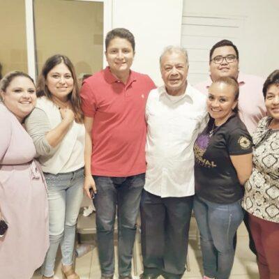 Visita líder nacional del PT a la CIOAC en Quintana Roo