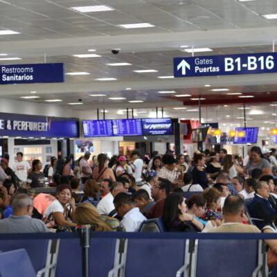 Reportan más de 500 operaciones en el Aeropuerto Internacional de Cancún por fin de semana largo