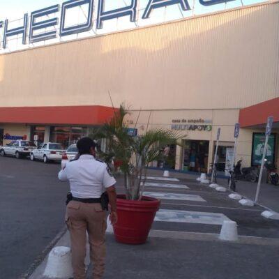 En marcha mega operativo de vigilancia policiaca en supermercados de Cancún