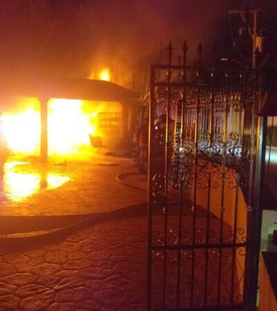 Se incendia centro de rehabilitación en Cancún