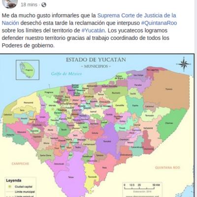 Falla SCJN en contra de Quintana Roo, en controversia territorial