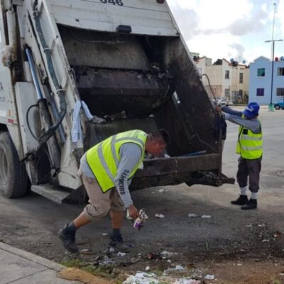 Incrementan rutas de recolección de basura en Cancún por contingencia sanitaria