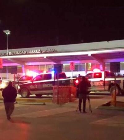 Atacan a edil de Chihuahua en aeropuerto; días antes su hijo fue ejecutado en el mismo lugar