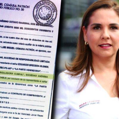 LES CAEN EN LA 'MAROMA'… CREA LA FAMILIA DE MARA EMPRESA PARA COMPRAR PROPIEDADES: Tras bajarse de candidatura en 2016, esposo e hijo de la Alcaldesa empezaron a adquirir inmuebles de alto valor en Cancún