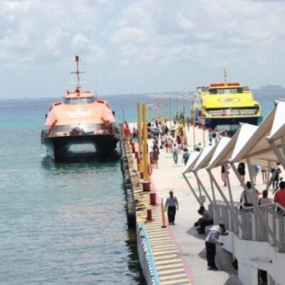 DE 33 A SÓLO 8 CORRIDAS POR EL VIRUS: Cae 80% usuarios de la Terminal Marítima de Playa del Carmen