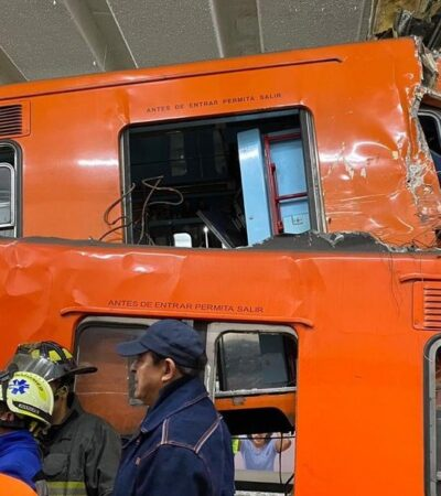 FOTOS   Saldo de un muerto y al menos 41 heridos tras choque de trenes en la estación Tacubaya del Metro