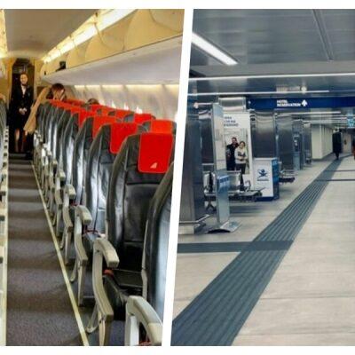 Directivo de Mercedes Benz México publica fotos de vuelo Roma-Milán vacío por temor al coronavirus
