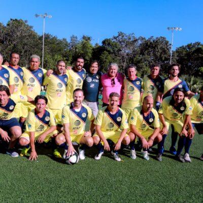 Leyendas del América juegan partido amistoso con  la Selección de Tulum