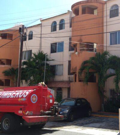 Apagan incendio en la SM 64 de Cancún