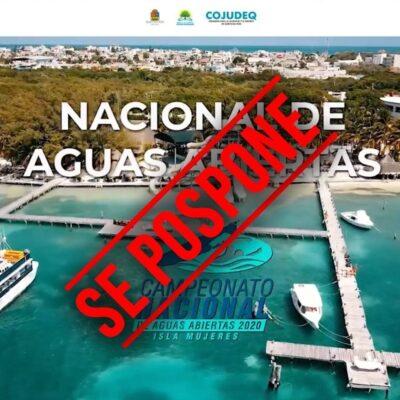 Posponen Selectivo nacional de Aguas Abiertas en Isla Mujeres