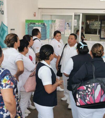 PROTESTAN MÉDICOS Y ENFERMERAS EN CHETUMAL: Denuncian falta de cubrebocas, gel antibacterial y medicamentos para enfrentar el coronavirus