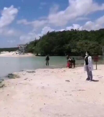 Retiran a más de cien bañistas de las playas por no respetar el aislamiento social en Solidaridad